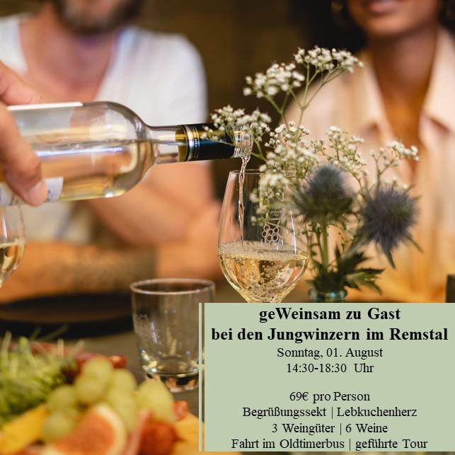 Stuttgarter Weindorf geWeinsam zu Gast bei den Jungwinzern im Remstal